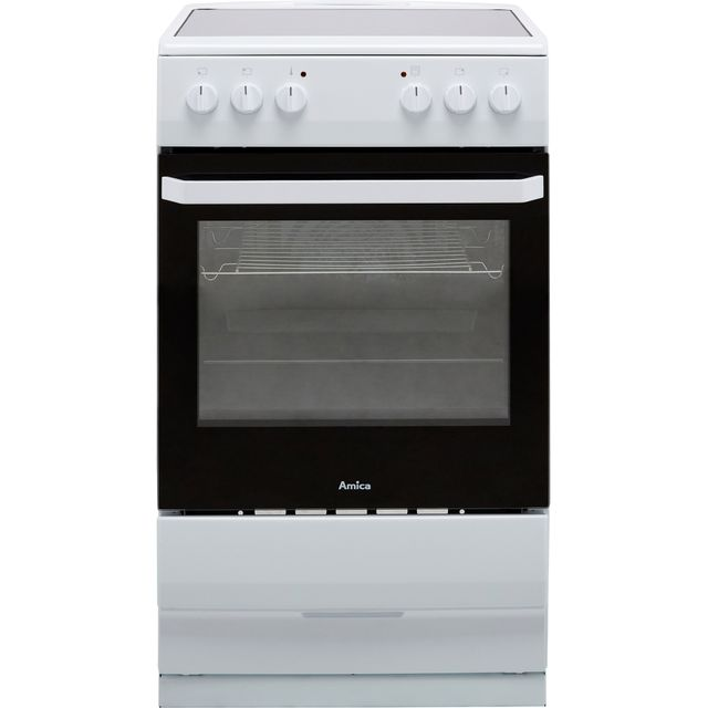Amica AFC1530WH 50cm Electric Cooker with Ceramic Hob - White - A Rated
