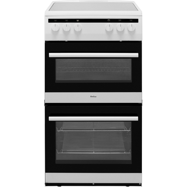 Amica AFC5100WH 50cm Electric Cooker with Ceramic Hob - White - A/A Rated