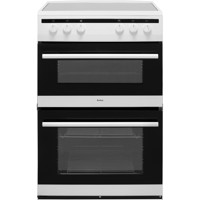 Amica AFC6520WH 60cm Electric Cooker with Ceramic Hob - White - A/A Rated