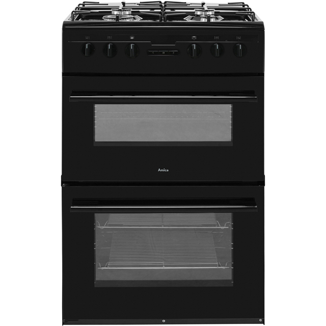 Amica AFD6450BL 60cm Dual Fuel Cooker - Black - A/A Rated