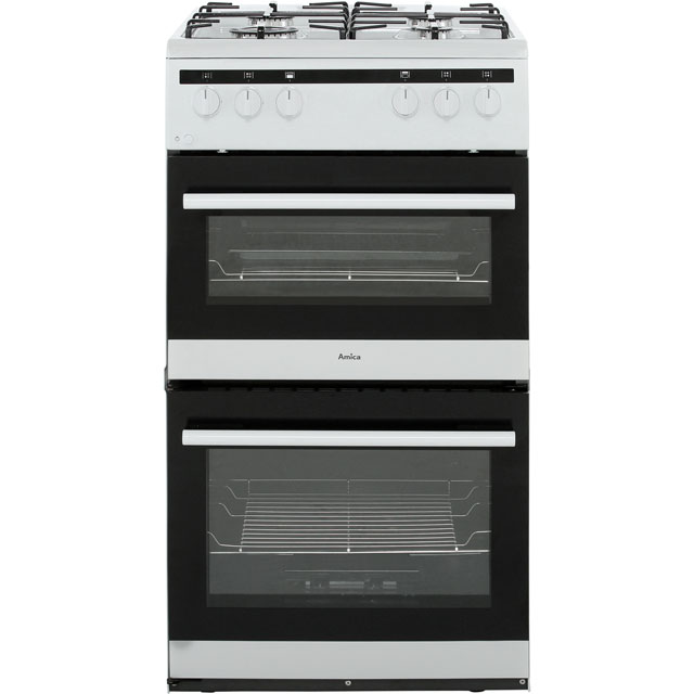 Amica AFG5100WH 50cm Gas Cooker with Full Width Gas Grill - White - A/A Rated