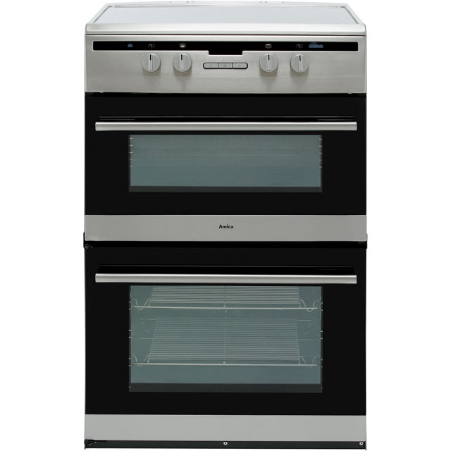 Amica AFN6550SS 60cm Electric Cooker with Induction Hob - Stainless Steel - A/A Rated