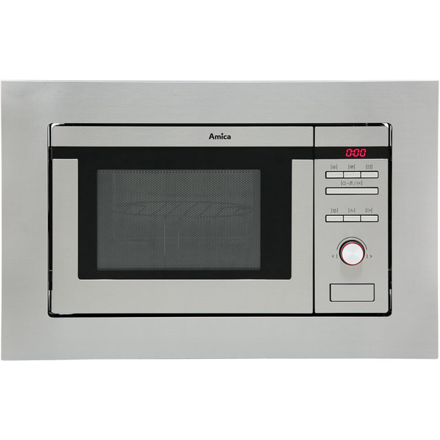 Amica AMM20G1BI Built In Microwave with Grill - Stainless Steel - AMM20G1BI_SS - 1