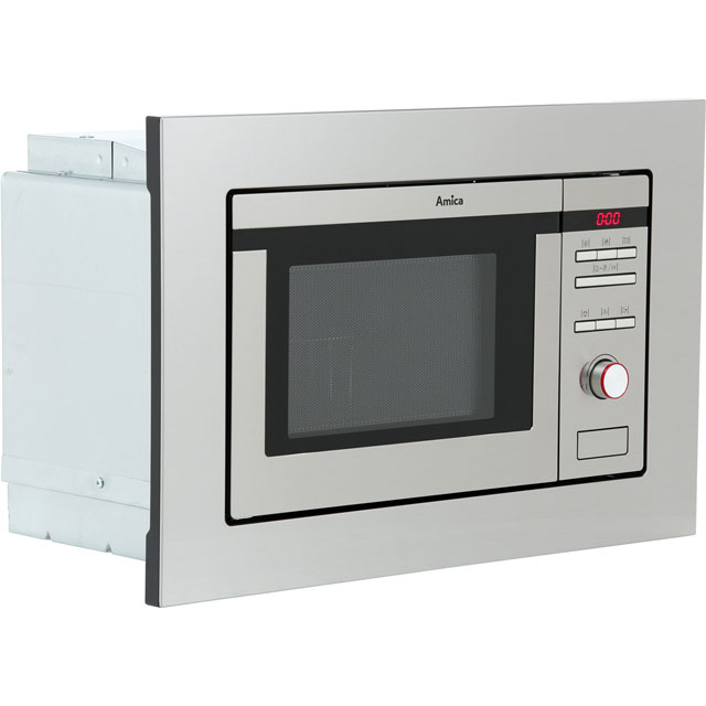 Amica AMM20G1BI Built In Microwave with Grill - Stainless Steel - AMM20G1BI_SS - 2