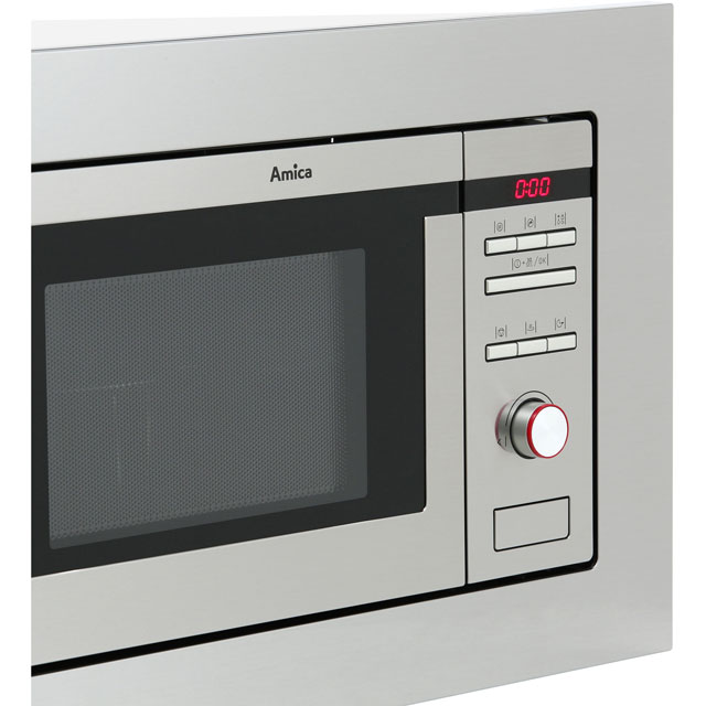 Amica AMM20G1BI Built In Microwave with Grill - Stainless Steel - AMM20G1BI_SS - 3
