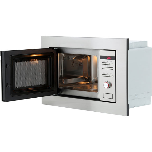 Amica AMM20G1BI Built In Microwave with Grill - Stainless Steel - AMM20G1BI_SS - 4