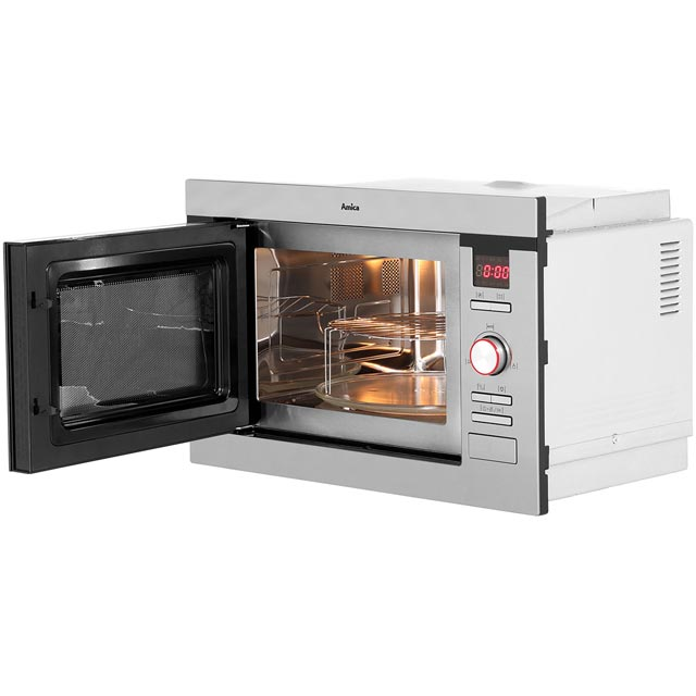 Amica AMM25BI Built In Microwave - Stainless Steel - AMM25BI_SS - 5