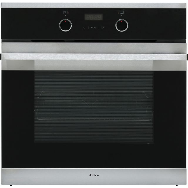Amica ASC310SS Built In Electric Single Oven - Stainless Steel - A Rated - ASC310SS_SS - 1