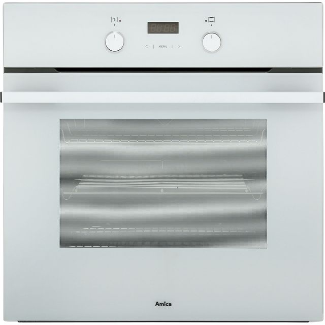 Amica ASC310WH Built In Electric Single Oven - White - A Rated - ASC310WH_WH - 1