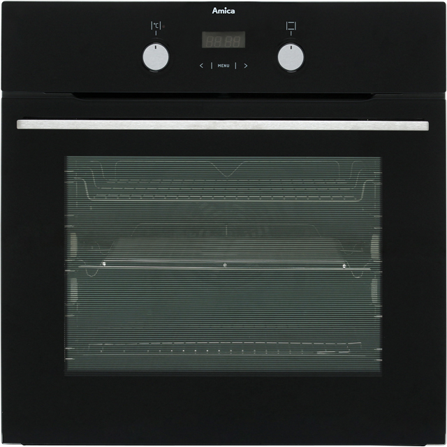 Amica ASC420BL Built In Electric Single Oven - Black - A Rated - ASC420BL_BK - 1