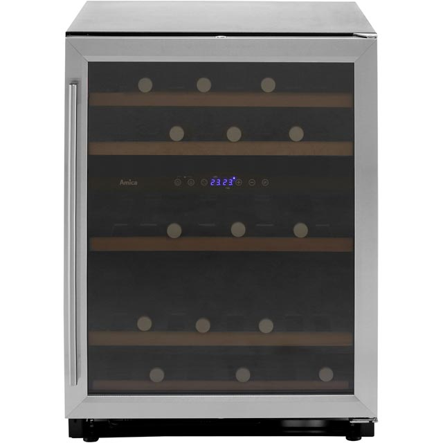 Amica AWC600SS Wine Cooler - Stainless Steel - G Rated