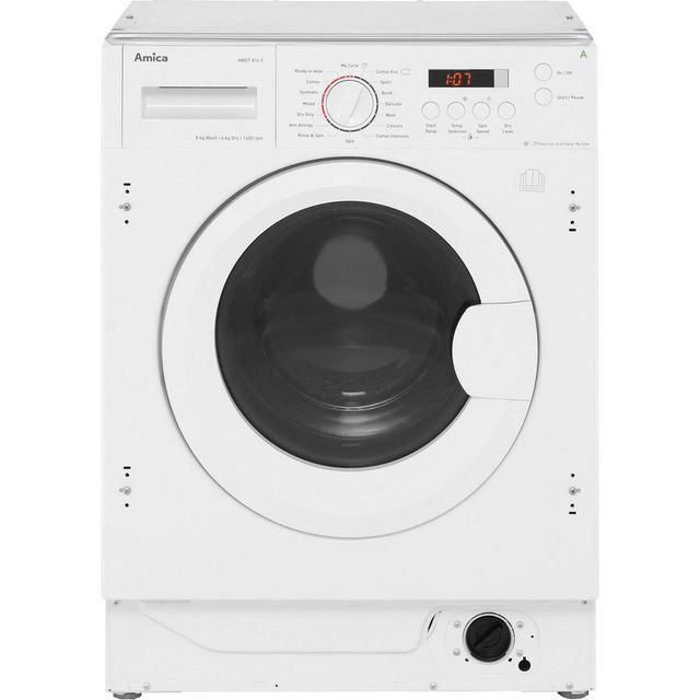 Amica AWDT814S Integrated 8Kg / 6Kg Washer Dryer with 1400 rpm - White - A Rated
