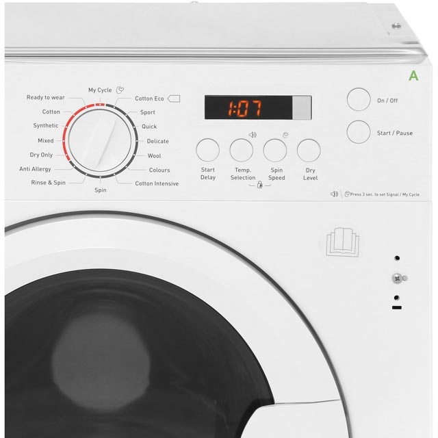 Amica AWDT814S Built In 8Kg / 6Kg Washer Dryer - White - AWDT814S_WH - 4