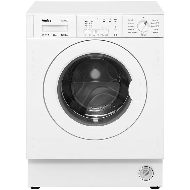 Amica AWJ714L Integrated 7Kg Washing Machine with 1400 rpm - A+++ Rated