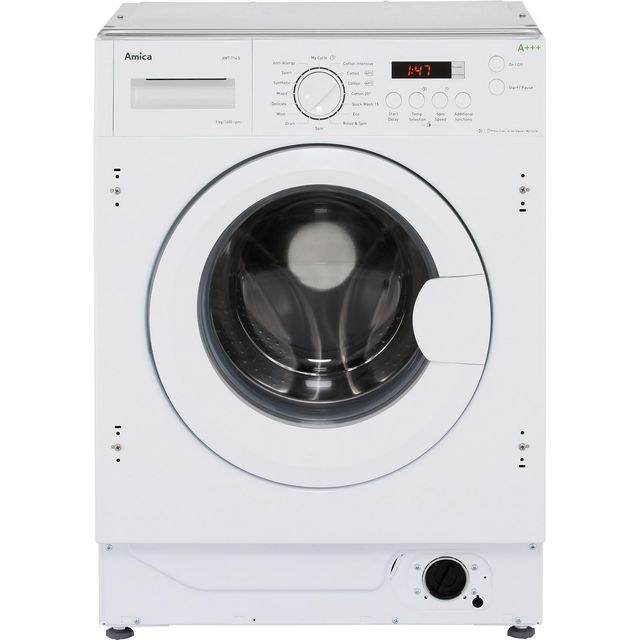 Amica AWT714S Integrated 7Kg Washing Machine with 1400 rpm - A+++ Rated Best Price, Cheapest Prices