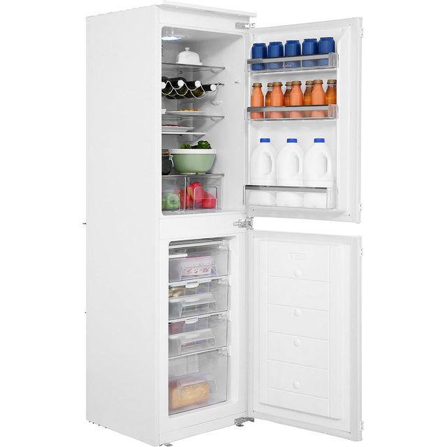 Amica BK296.3 Integrated 50/50 Fridge Freezer with Sliding Door Fixing Kit - White - A+ Rated - BK296.3_WH - 1