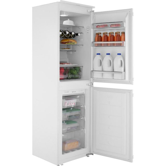 Image of Amica BK296.3FA Integrated 50/50 Frost Free Fridge Freezer with Sliding Door Fixing Kit - White - A+ Rated