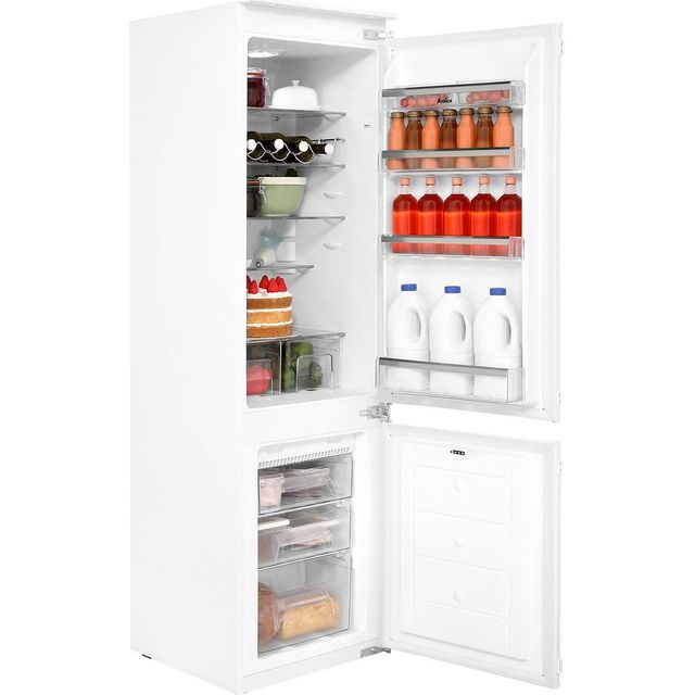 Amica Integrated 70/30 Frost Free Fridge Freezer with Sliding Door Fixing Kit - White - A+ Rated
