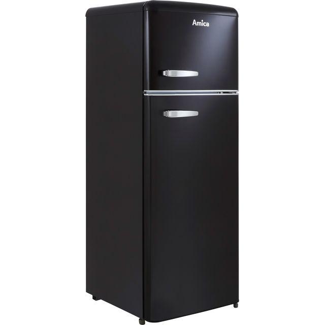 Amica FDR2213B 70/30 Fridge Freezer - Black - F Rated