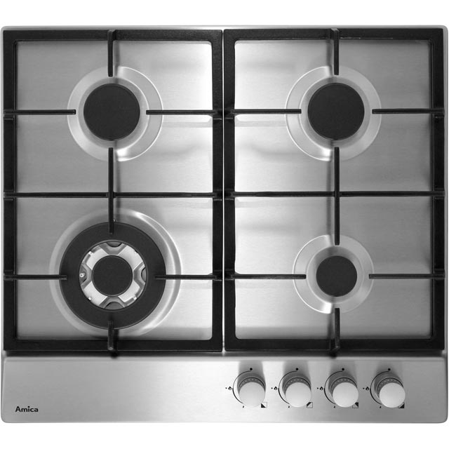 Amica PGZ6412 59cm Gas Hob - Stainless Steel
