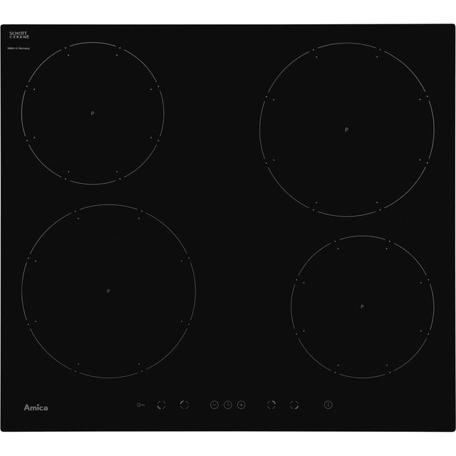 Amica PI6540TU 58cm Induction Hob - Black - PI6540TU_BK - 1