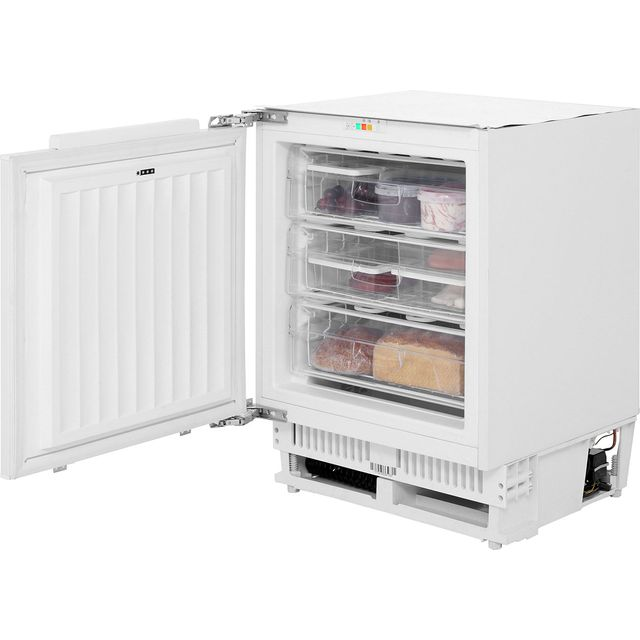 Amica UZ130.3 Integrated Under Counter Freezer with Fixed Door Fixing Kit - A+ Rated - UZ130.3_WH - 1