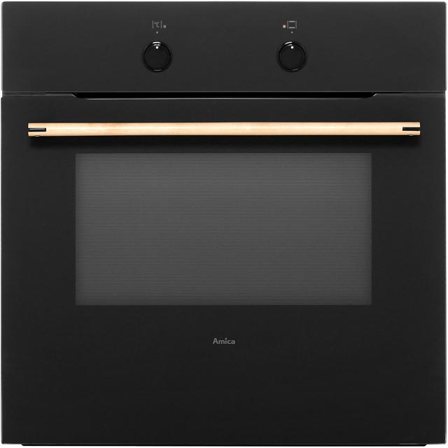 Amica ZENBLACK Built In Electric Single Oven - Black - A Rated