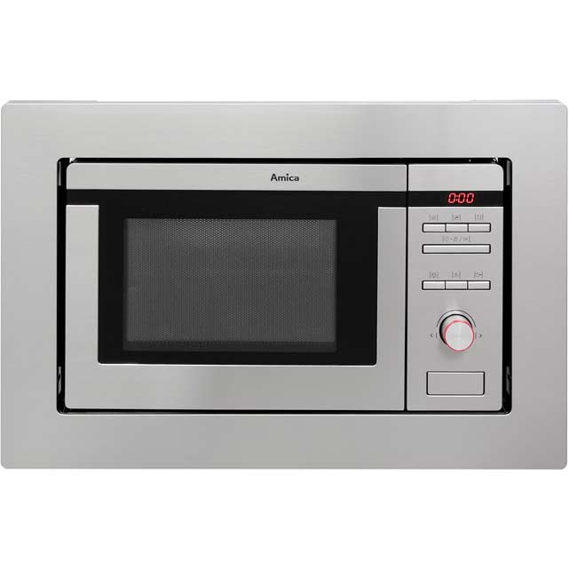 Amica AMM20BI Built In Microwave With Grill - Stainless Steel
