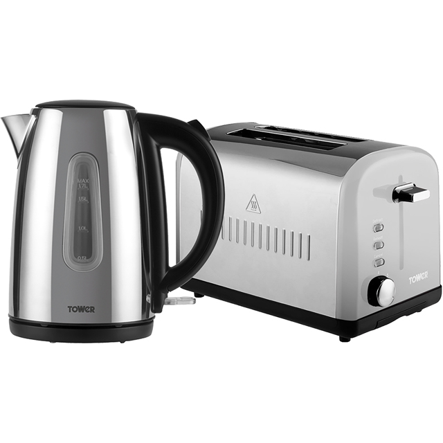 Tower AOBUNDLE001 Kettle And Toaster Sets - Polished Stainless Steel - AOBUNDLE001_SS - 1