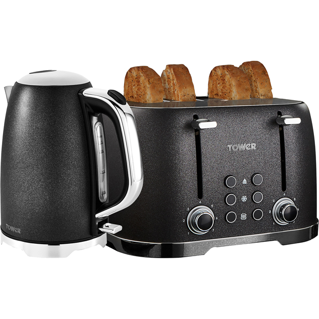 Tower Glitz AOBUNDLE006 Kettle And Toaster Sets - Black - AOBUNDLE006_BK - 1