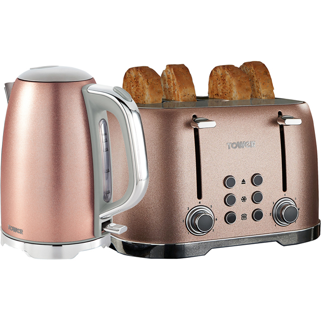 Tower Glitz AOBUNDLE007 Kettle And Toaster Sets - Pink - AOBUNDLE007_PK - 1