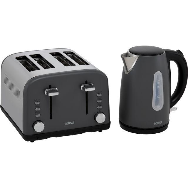 Tower AOBUNDLE023 Kettle And Toaster Set - Slate