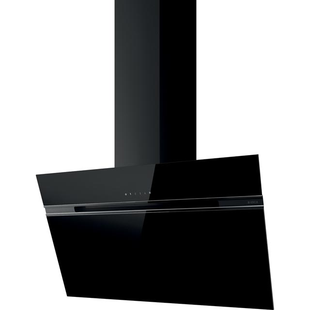 Elica ASC-LED-90BLK 90 cm Chimney Cooker Hood - Black Glass - B Rated - ASC-LED-90BLK_BKG - 1
