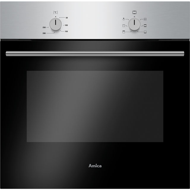 Amica ASC150SS Built In Electric Single Oven - Stainless Steel - A Rated - ASC150SS_SS - 1