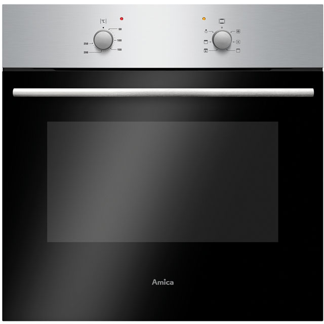 Amica ASC420SS Built In Electric Single Oven - Stainless Steel - A Rated - ASC420SS_SS - 1