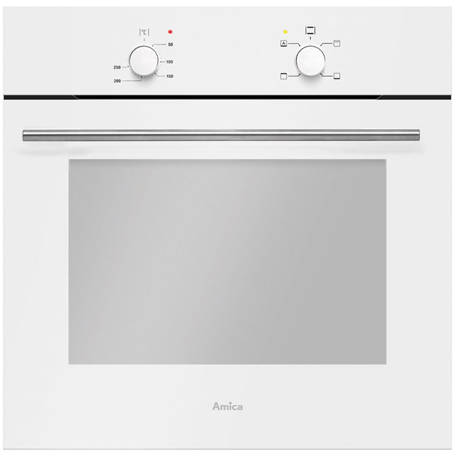 Amica ASC420WH Built In Electric Single Oven - White - A Rated - ASC420WH_WH - 1