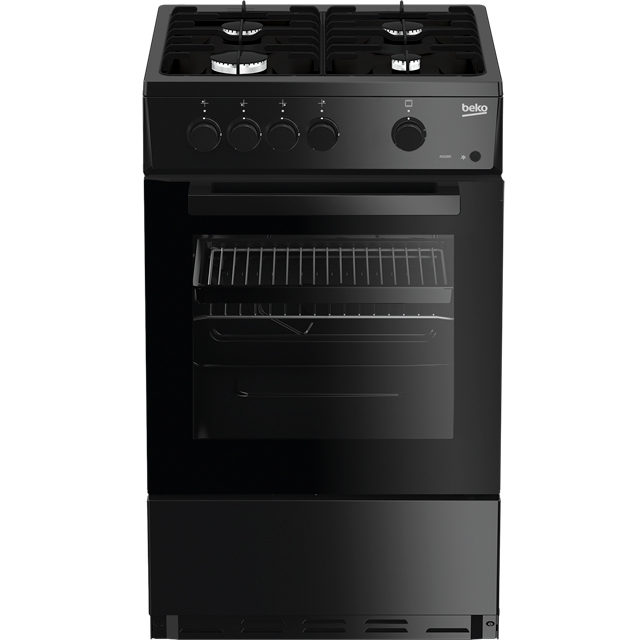 Beko ASG580K Gas Cooker - Black - A Rated