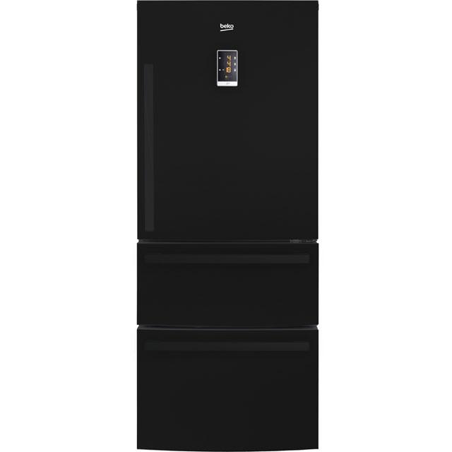 Beko ASML142B Free Standing American Fridge Freezer in Black