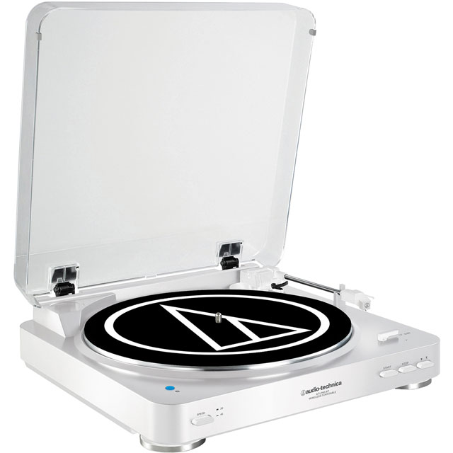 Audio Technica AT-LP60WHBT Record Turntable with Bluetooth with Bluetooth - White
