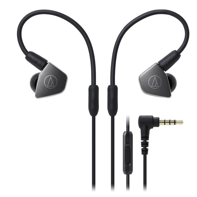 Audio Technica ATH-LS70IS In ear Headphones - Gun Metal