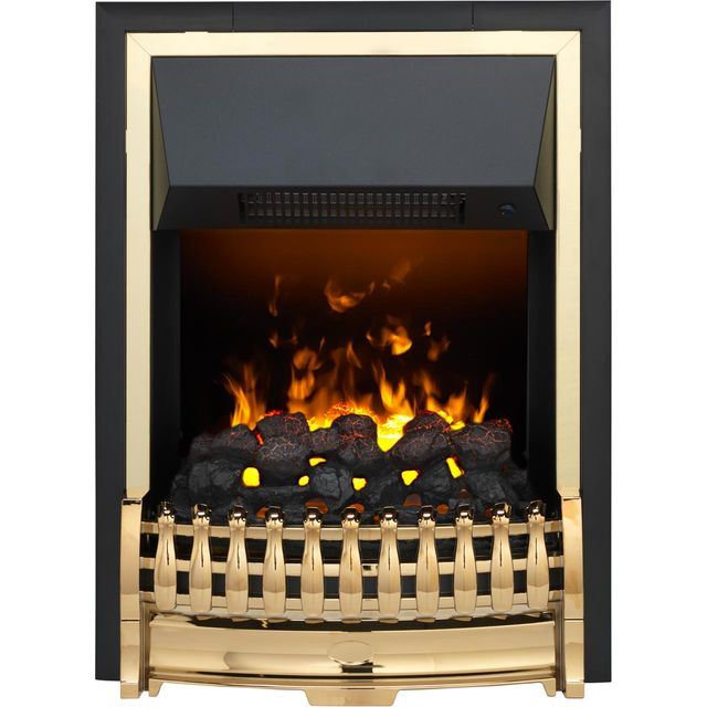 Dimplex Atherton ATH20 Coal Bed Inset Fire With Remote Control - Brass - ATH20_BRS - 1
