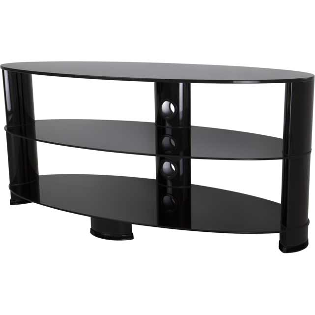 AVF Oval OVL1200BB 3 Shelf TV Stand - Black