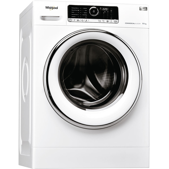 Whirlpool Omnia AWG1112/Pro 11Kg Commercial Washing Machine with 1200 rpm - White - AWG1112/Pro_WH - 1