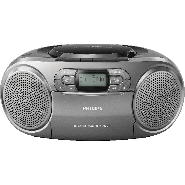 Philips AZB600/12 DAB / DAB+ Digital Radio with FM Tuner - Black / Silver - AZB600/12 - 1