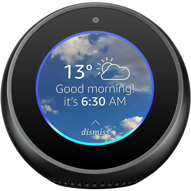 "Amazon Echo Spot Smart Speaker with Alexa - 2.5"" Screen - Black - B01J2BK6CO - 1"