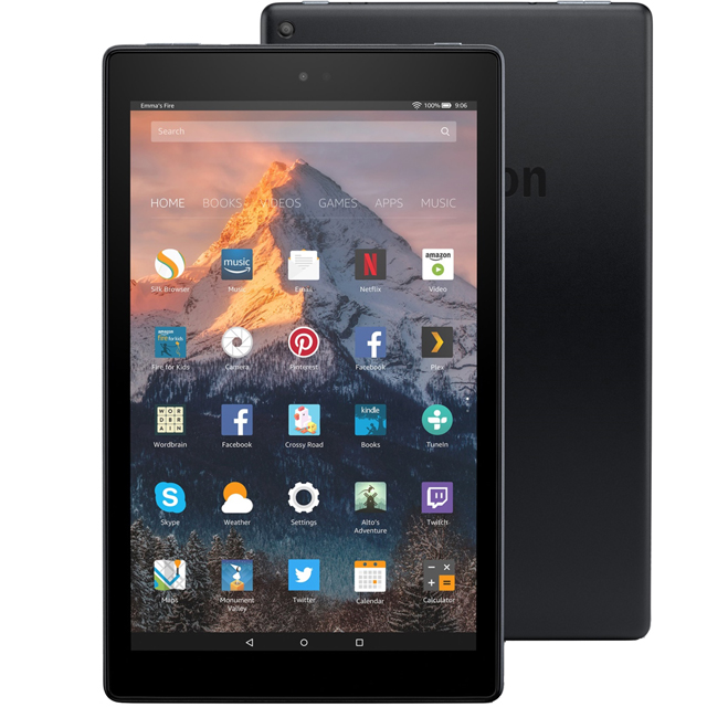 "Amazon Fire HD 10.1"" 32GB Wifi Tablet - Black - B01J6RPH46 - 1"