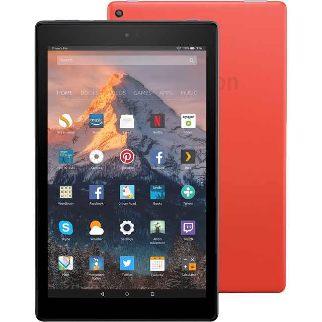 "Amazon Fire HD 10.1"" 32GB Wifi Tablet - Red - B01MCVCR2U - 1"