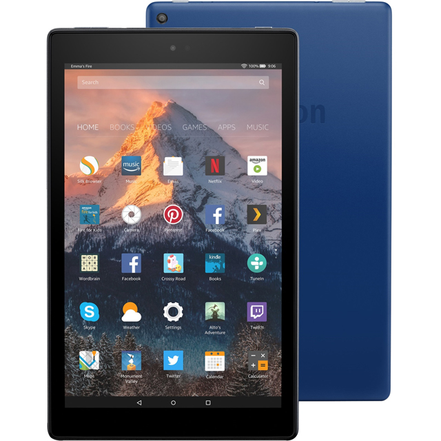 "Amazon Fire 10.1"" 32GB Wifi Tablet - Blue - B01MEGCLHI - 1"