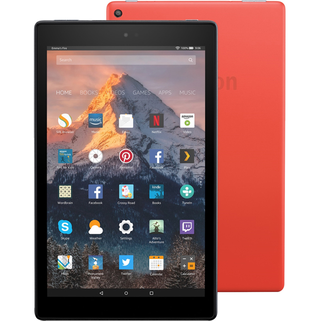 "Amazon Fire HD 10.1"" 64GB Wifi Tablet - Red - B01N0ORFU4 - 1"
