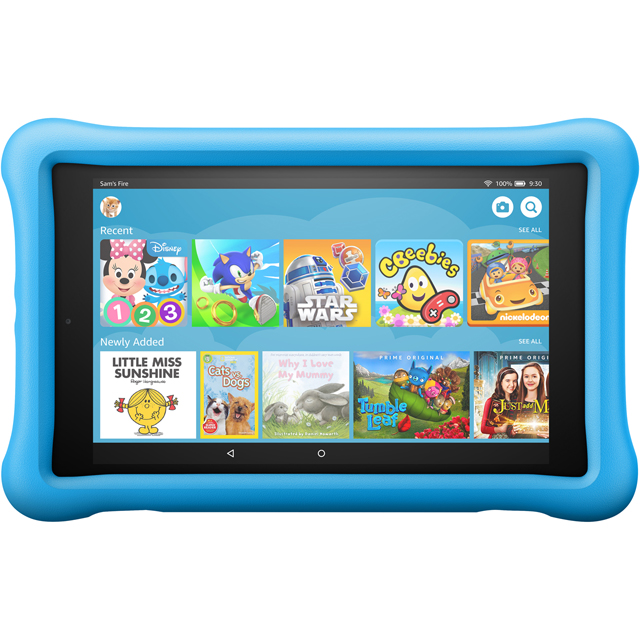"Amazon Fire HD Kids Edition 8"" 32GB WiFi Tablet with Alexa - Blue - B078HRR9MW - 1"